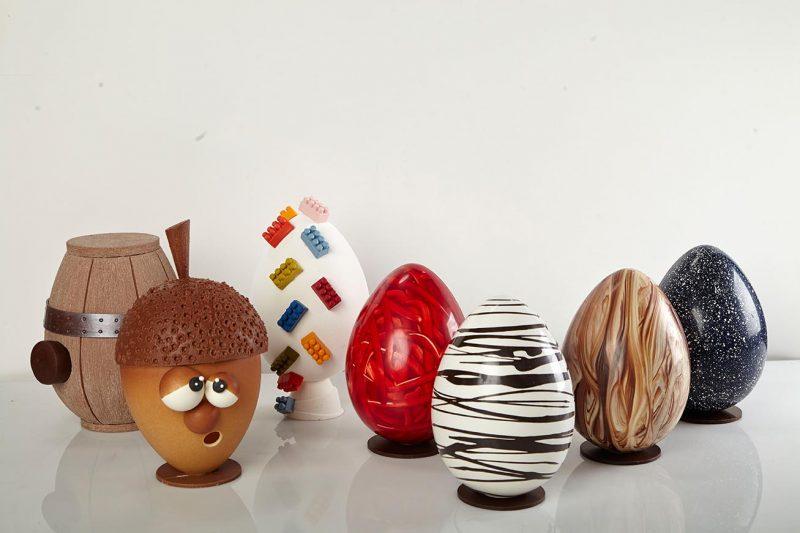 Uova di Pasqua e Gusci in Cioccolato