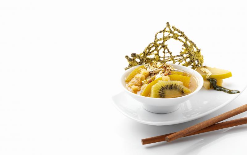 Brodo di Orval allo zenzero e pepe di Sichuan