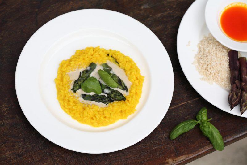Ciambella di riso con punte di asparagi