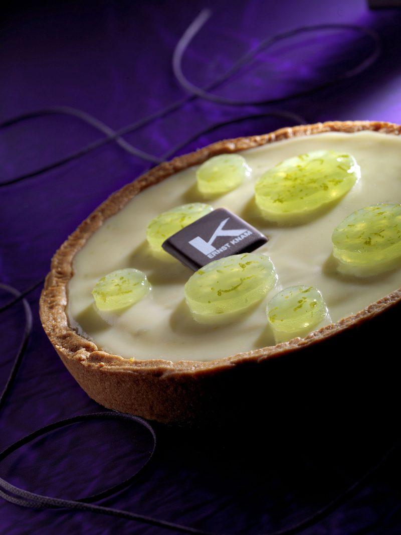 Crostata lime, aloe vera e cioccolato bianco
