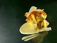Lasagnetta croccante, ragù di fassona, zabaione e aria di parmigiano reggiano vacche bianche di rosola