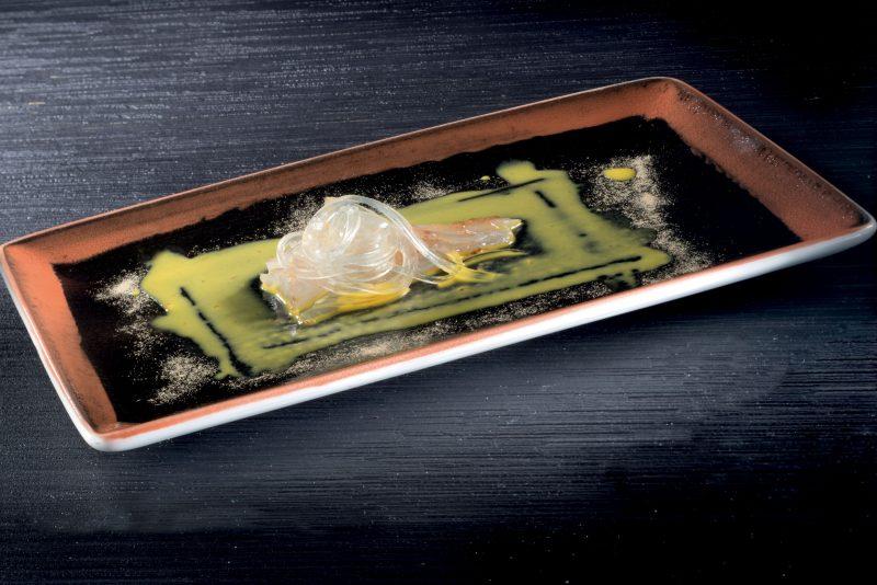 orata alla carbonara con tagliatelle di tonno bianco affumicato, susci classico 2008