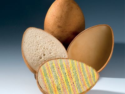 Uovo di pane con sorpresa