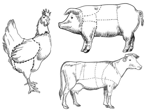 Il menù di carne perfetto a cura di Sergio Mei: dalla testa alla coda e viceversa