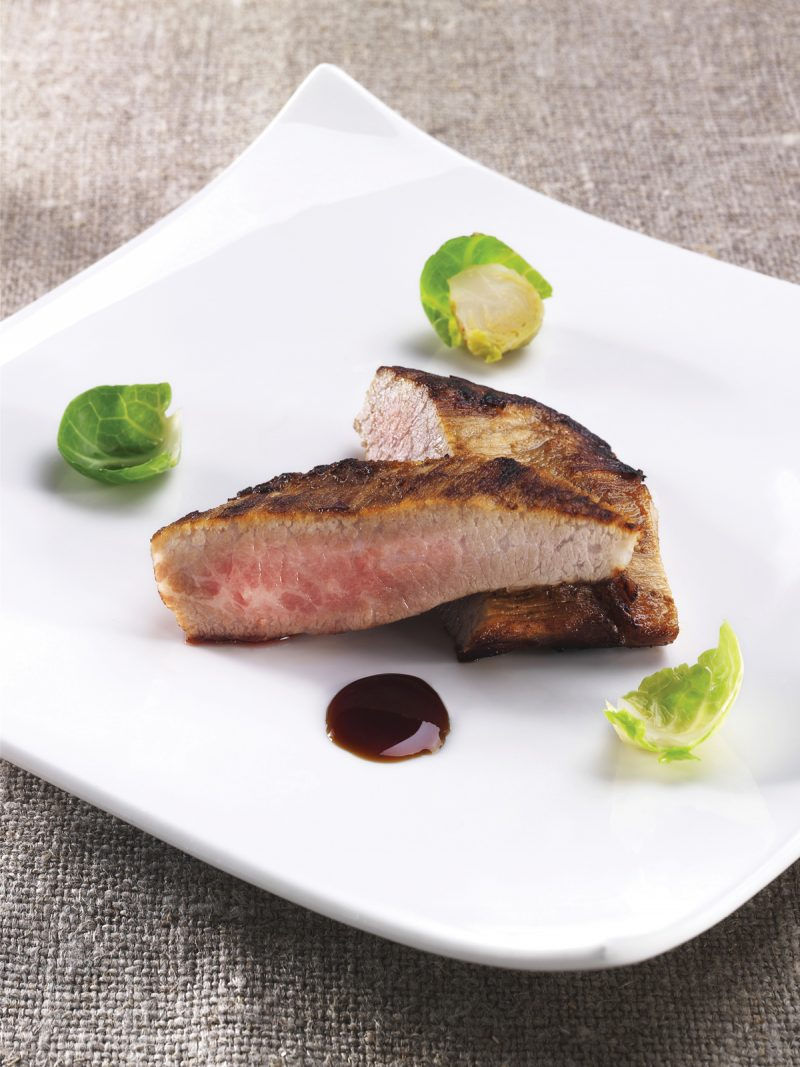 Secreto iberico marinato e cotto a bassa temperatura