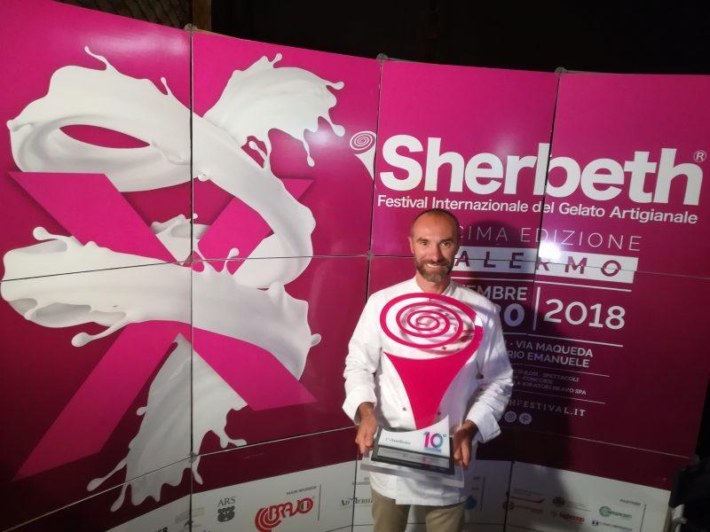 Il gelatiere Fabio Solighetto trionfa al festival Sherbeth