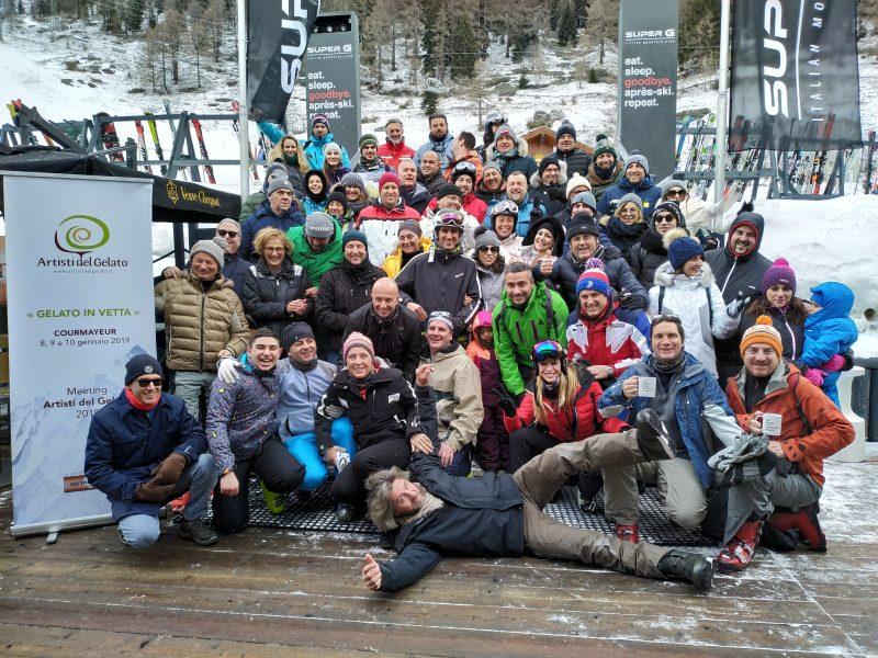 Gli Artisti del Gelato tra le nevi delle Alpi