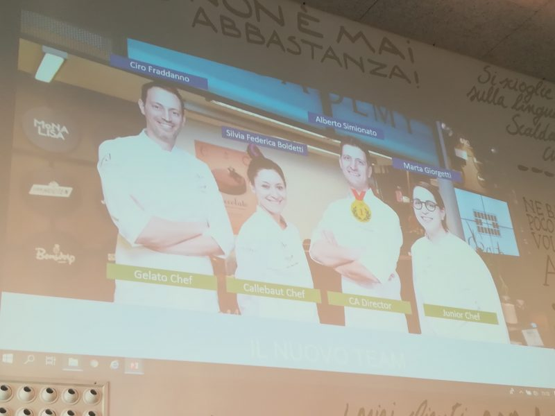 Si rinnova il team del Chocolate Academy Center di Milano