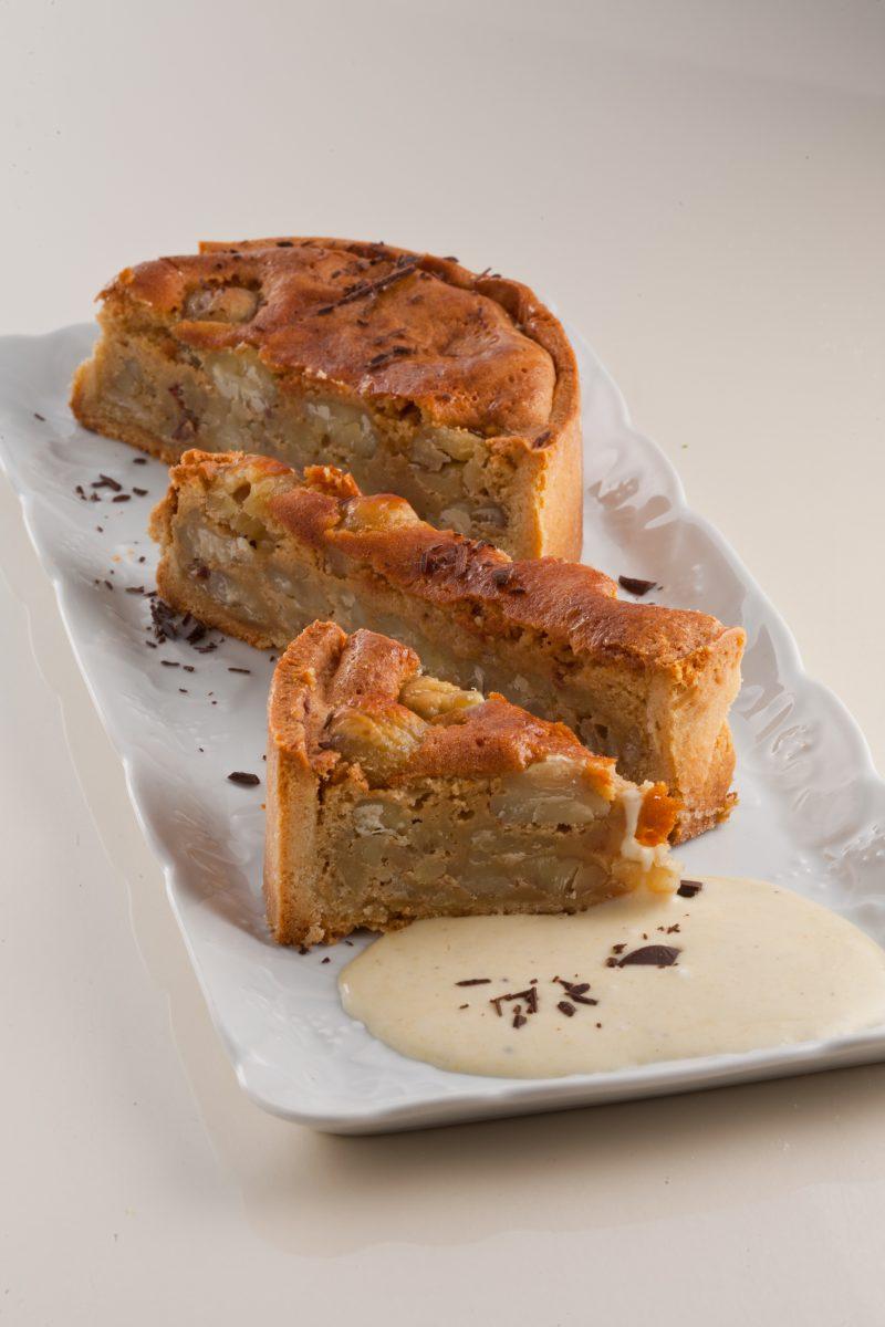 Torta di Castagne con Salsa Vaniglia