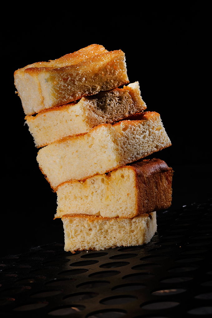 Focaccia dolce alla panna e vaniglia