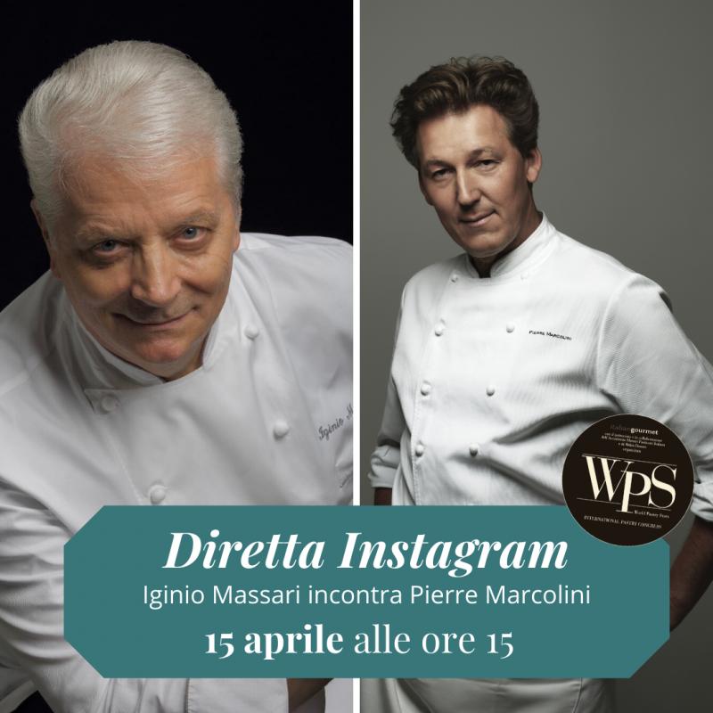 World Pastry Stars a casa tua. Il Maestro Iginio Massari in diretta Instagram con Pierre Marcolini