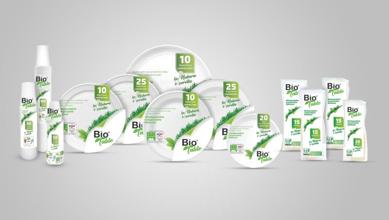 Bio Table: l'usa e getta è 100% green