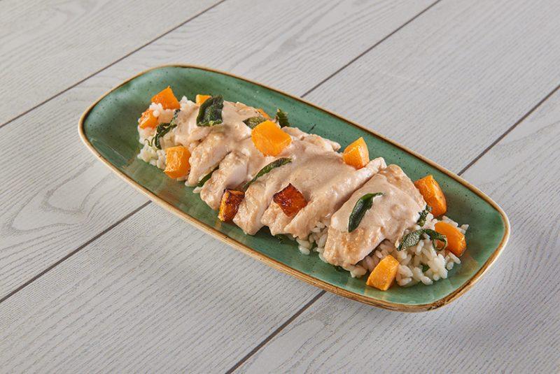 Le ricette leggere di IFFCO Italia in collaborazione con Roberto Carcangiu: ecco il pollo alla senape e zucca in crema light