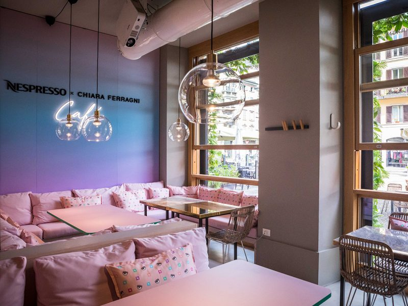 A Milano il Temporary Café firmato Nespresso e Chiara Ferragni